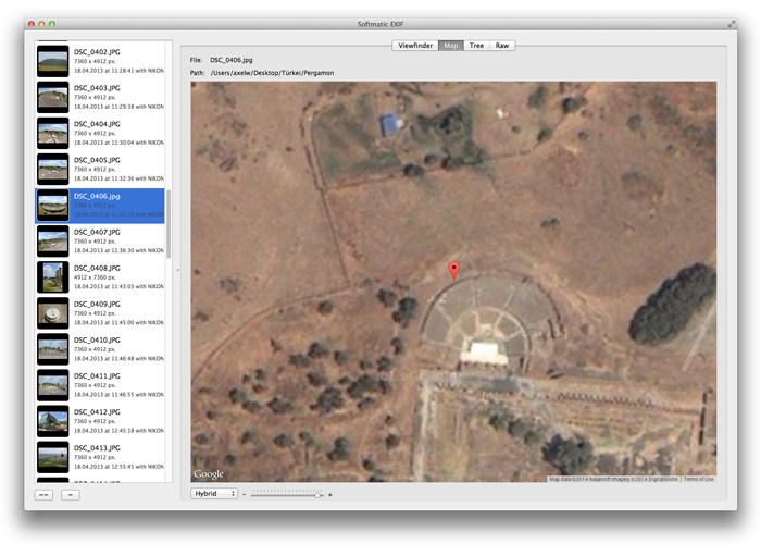 EXIF Viewer GPS Map