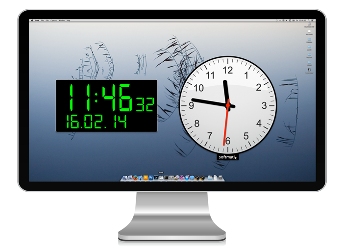 Mac Large Desktop Clock