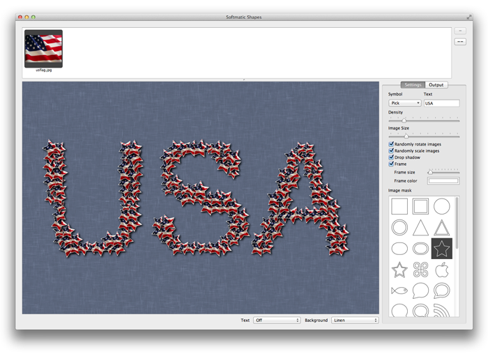 Softmatic Shapes US flag