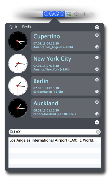 Softmatic WorldTime Clock Locations and Timezones