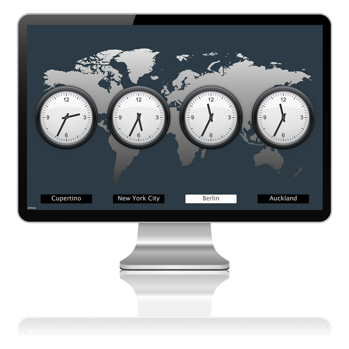 Mac OS X World time Clock